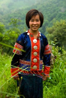 Thai woman in traditional clothes