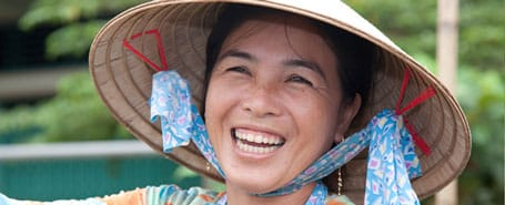 Vietnames woman at floating market